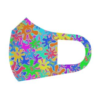 🐙🌼たこはな総柄🌼🐙 Full Graphic Mask