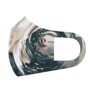 花と手と螺旋 Full Graphic Mask