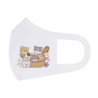 パンとバスケットと猫と柴犬 Full Graphic Mask