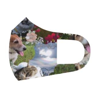犬と猫 Full Graphic Mask