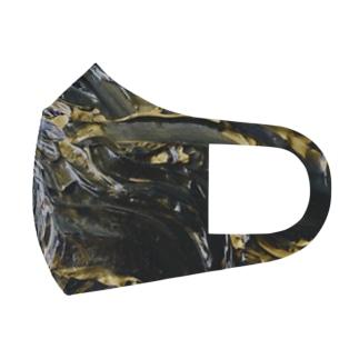 黒髪から覗く輝くインナーカラー Full Graphic Mask