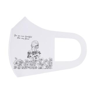 Flowers & Girls Full Graphic Mask