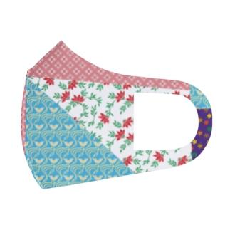 おばあちゃんの手作り巾着 Full Graphic Mask