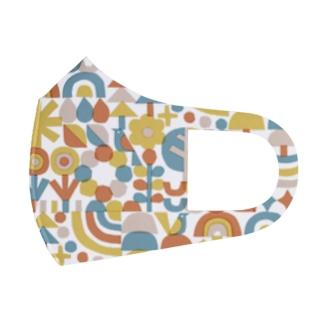 レトロカラー(森) Full Graphic Mask