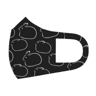 北極うさぎ Full Graphic Mask