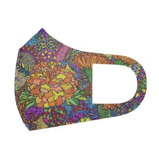 デザイン花柄 Full Graphic Mask