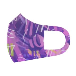 混乱 Full Graphic Mask