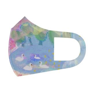 白鳥マスク Full Graphic Mask