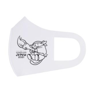 マスク じゃぱんわぷー 白 Full Graphic Mask