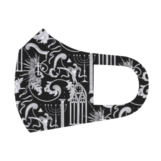 pattern : holy Full Graphic Mask