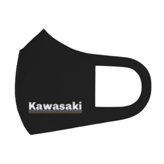 川崎家用マスク 黒 kawasaki Full Graphic Mask