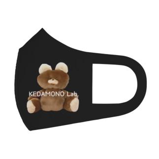 むくみちゃんマスクBLACK Full Graphic Mask