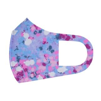 ドロップ pink & blue cherrybrossom Full Graphic Mask