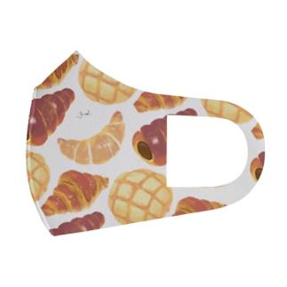 パンノマスク(ベージュ) Full Graphic Mask
