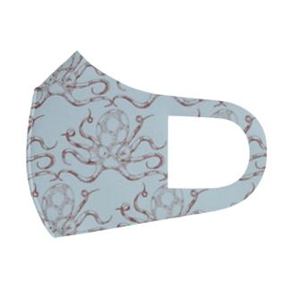 nemunoki paper itemの水玉海洋生物 イイダコ Face Mask
