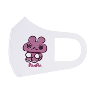 おすわりモモ Full Graphic Mask