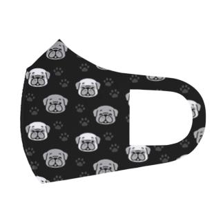 PUG・PUG(black) Full Graphic Mask
