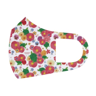 Love Turtle ホワイト Full Graphic Mask