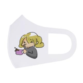 くしゃみ_きんぱつ Full Graphic Mask
