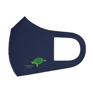 Love Turtle ワンポイントA ネイビー Full Graphic Mask