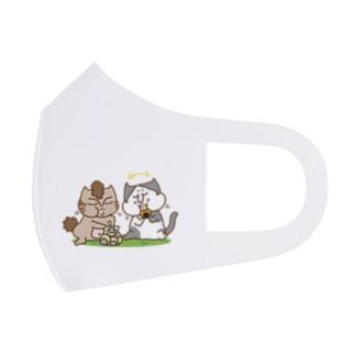 お悟り猫たちのおやつタイム Full Graphic Mask