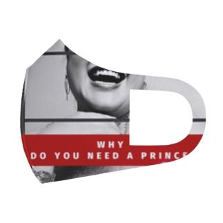 「どうして王子様が必要なの?もうあなたはQueenなのに」 Full Graphic Mask