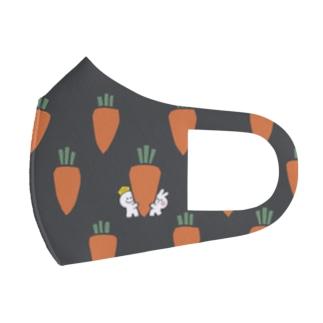 Spoiled Rabbit Carrot mask / あまえんぼうさちゃん にんじんマスク Full Graphic Mask