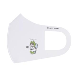 トイレねこ 緑色 Full Graphic Mask