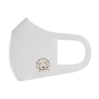 犬と共に(ゴールデン/白)  Full Graphic Mask