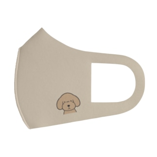 犬と共に(トイプー/アプリコット) Full Graphic Mask