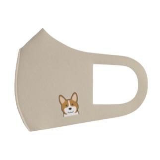犬と共に(コーギー) Full Graphic Mask