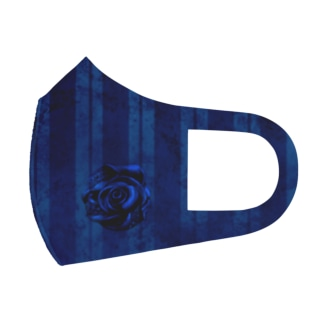 Deep sea Яose blue Full Graphic Mask