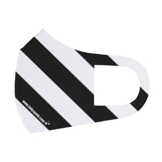 stripes BxW Full Graphic Mask