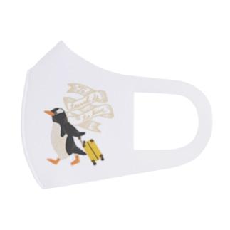 旅するペンギン WHITE Full Graphic Mask