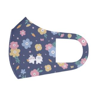 Spoiled Rabbit Flower Mask / あまえんぼうさちゃん お花マスク Full Graphic Mask