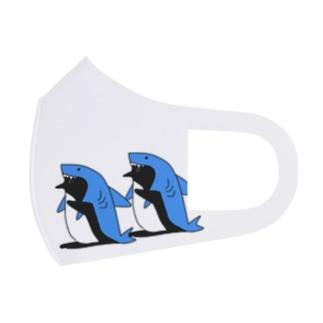 サメを被るペンギンマスク Full Graphic Mask