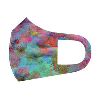 めっちゃカラフルな苔 Full Graphic Mask