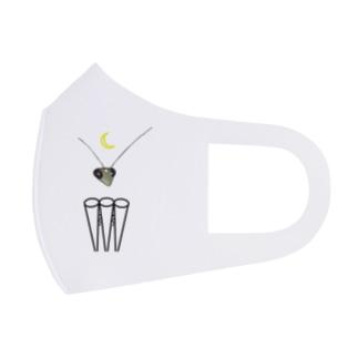 カマキリの昼と夜の複眼(絵文字ver) Full Graphic Mask