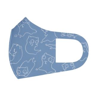 Siropus Catパターン(水色) Full Graphic Mask