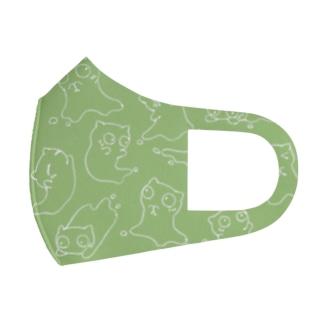 Siropus Catパターン(紫) Full Graphic Mask