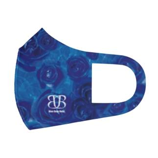full graphic rose mask blue Full Graphic Mask