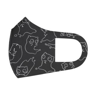 Siropus Catパターン(ダークグレー) Full Graphic Mask