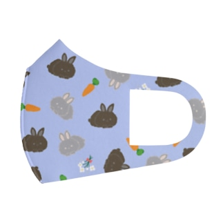 Baby rabbits Full Graphic Mask