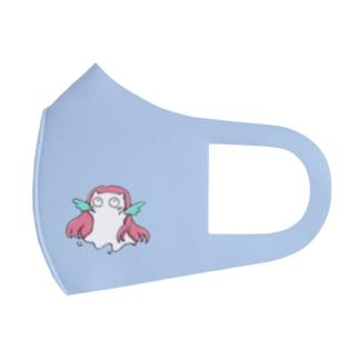 Siropus Cat アマビエ(水色) Full Graphic Mask