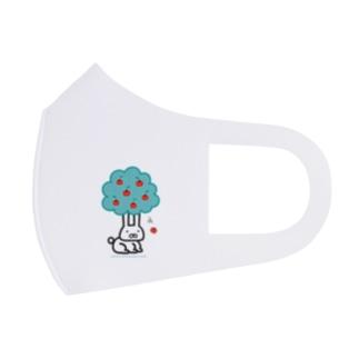 耳が長すぎるウサギのリンゴの木 Full Graphic Mask