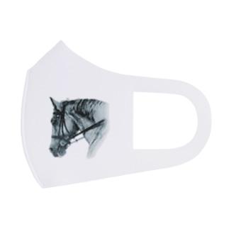 馬の絵マスク(ホワイト) Full Graphic Mask