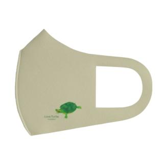 Love Turtle ワンポイント グリーン Full Graphic Mask