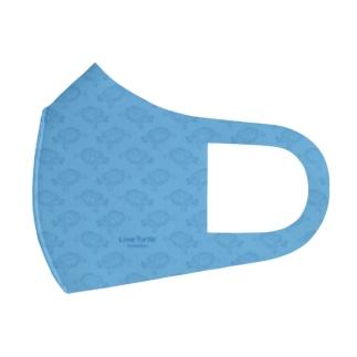 亀さんマスク 総柄 ブルー Full Graphic Mask