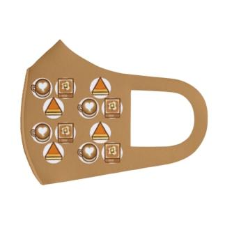カフェで一息マスク Full Graphic Mask