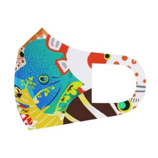 私の好きなお魚 Full Graphic Mask